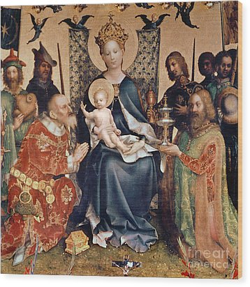 Adoration Of The Magi Altarpiece Wood Print by Stephan Lochner