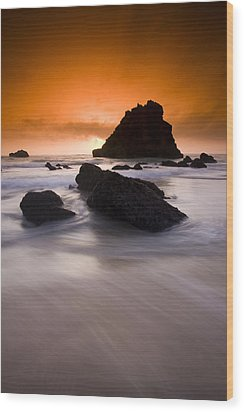 Adraga Beach Wood Print by Andre Goncalves
