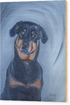 Wood Print featuring the painting Adrian by Donna Tuten