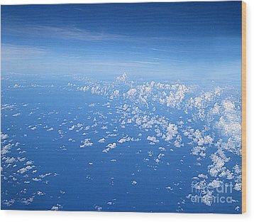 Adrift In A Sea Of Calm Wood Print by Addie Hocynec