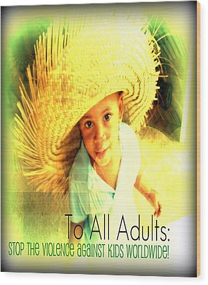 Adults Only Wood Print by Fania Simon