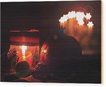 Cozy Advent Wood Print by AugenWerk Susann Serfezi