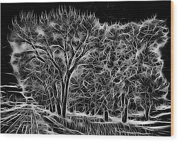 Advent Trees Wood Print by Aliceann Carlton