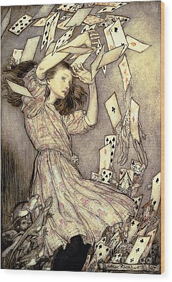 Adventures In Wonderland Wood Print by Arthur Rackham