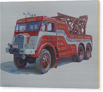 Wood Print featuring the painting Aec Militant Dennis's. by Mike Jeffries