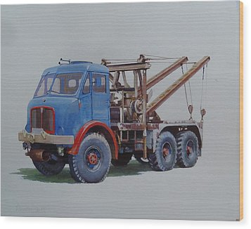 Wood Print featuring the painting Aec Militant Wrecker. by Mike Jeffries
