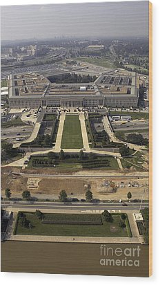 Aerial Photograph Of The Pentagon Wood Print by Stocktrek Images