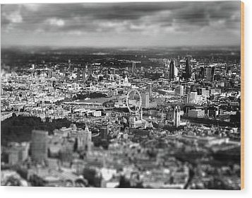 Aerial View Of London 6 Wood Print by Mark Rogan