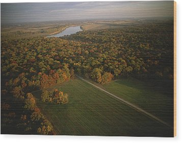 Aerial View Of Shiloh. The Tennessee Wood Print by Sam Abell