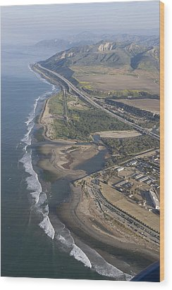 Aerial View Of Ventura Point, Ventura Wood Print by Rich Reid