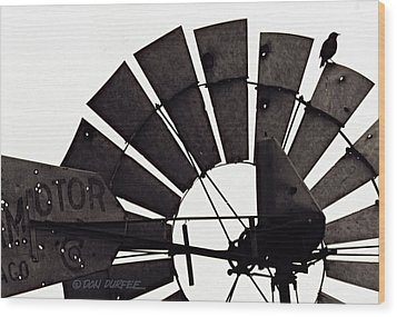 Wood Print featuring the photograph Aermotor Bird by Don Durfee