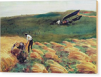 Aeroplane - Crashed Wood Print by John Singer Sargent