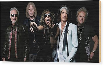 Wood Print featuring the photograph Aerosmith by Sean