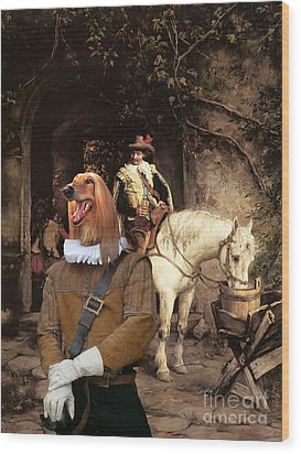 Afghan Hound-at The Tavern Canvas Fine Art Print Wood Print