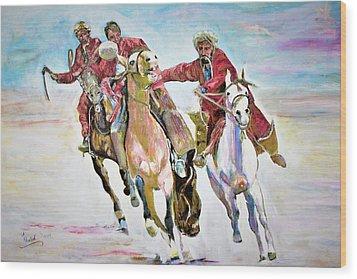 Afghan Sport. Wood Print