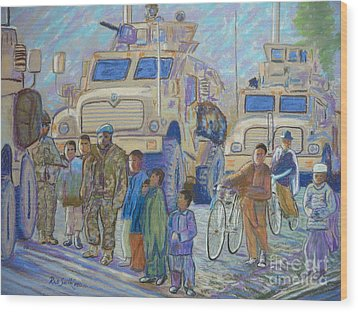 Afghanistan 2009 Wood Print by Rae  Smith