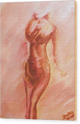 Aflame Wood Print by Shelley Bain