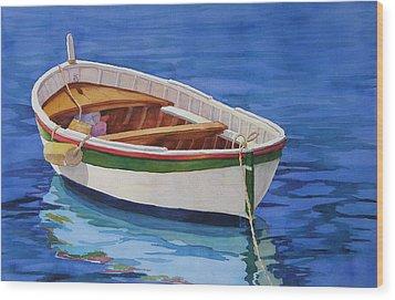 Afloat Wood Print by Judy Mercer