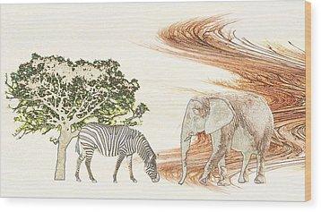 Africa Wood Print by Sharon Lisa Clarke