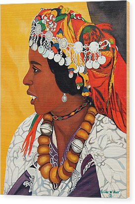 African Beauty Wood Print by Patrick Hunt