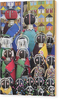 African Dolls Wood Print by Neil Overy