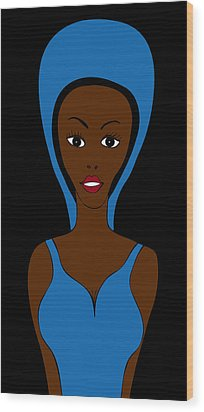 African Fashion Wood Print by Frank Tschakert