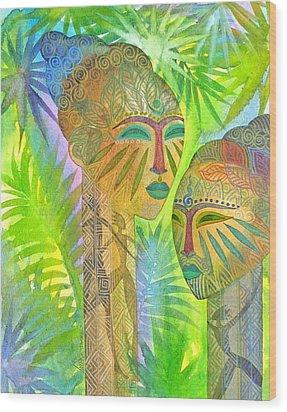 African Forest Queens Wood Print by Jennifer Baird