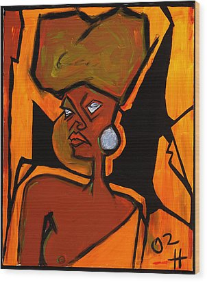 African Horse 36x30 Wood Print