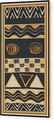 African Memories Wood Print by Vagabond Folk Art - Virginia Vivier