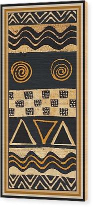 African Primordial Spirits - 2 Wood Print by Vagabond Folk Art - Virginia Vivier