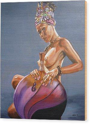African Queen Wood Print by Bryan Bustard