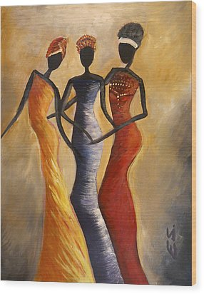 African Queens Wood Print by Evon Du Toit