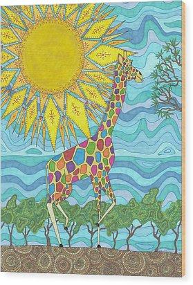 African Rainbow Wood Print