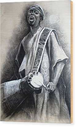 African Rythm Wood Print by Bankole Abe