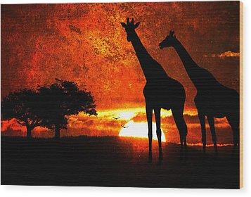 African Safari Wood Print