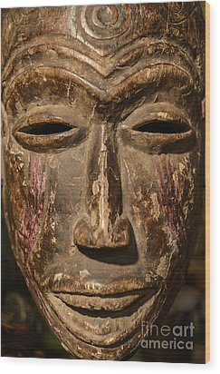 African Tribal Mask. Wood Print by John Greim