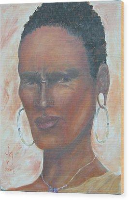 African Warrior Wood Print by Judie Giglio