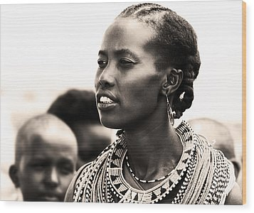 African Woman Wood Print