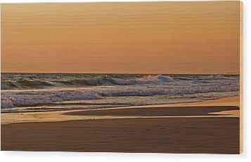 After A Sunset Wood Print by Sandy Keeton