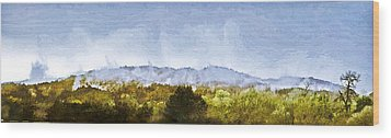 Wood Print featuring the painting After An Early Spring Storm by Larry Darnell