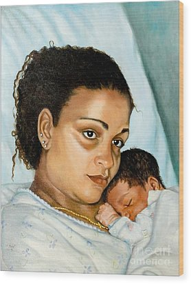 After Birth Jacina And Javon Wood Print