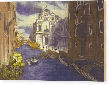 After Church Of Santi Giovanni E Paolo With The School Of St. Mark Wood Print by Hyper - Canaletto