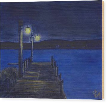 After Dinner Walk Wood Print by Cindy Gray