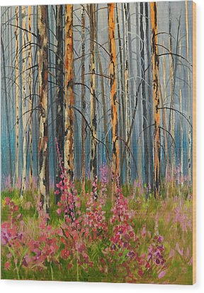 After Forest Fire Wood Print