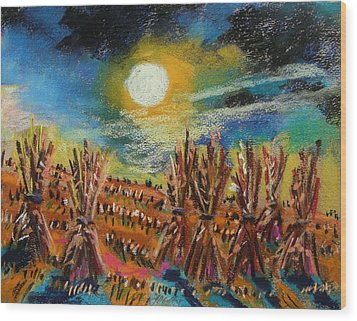 After Harvest Night Wood Print by John Williams