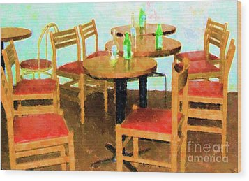 After Party Wood Print by Debbi Granruth