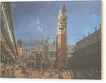 After St. Mark's Square Wood Print by Hyper - Canaletto