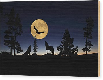 After Sunset Wood Print by Shane Bechler