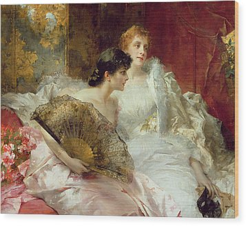 After The Ball Wood Print by Conrad Kiesel