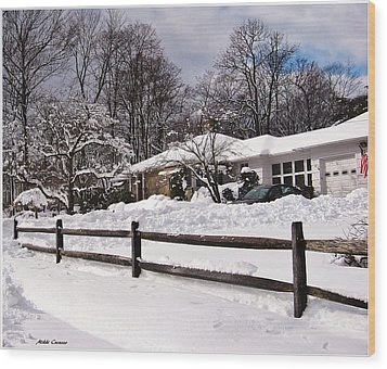 After The Blizzard Wood Print by Mikki Cucuzzo